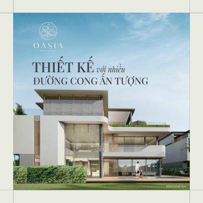 Phối cảnh biệt thự tại Oasia SwanBay