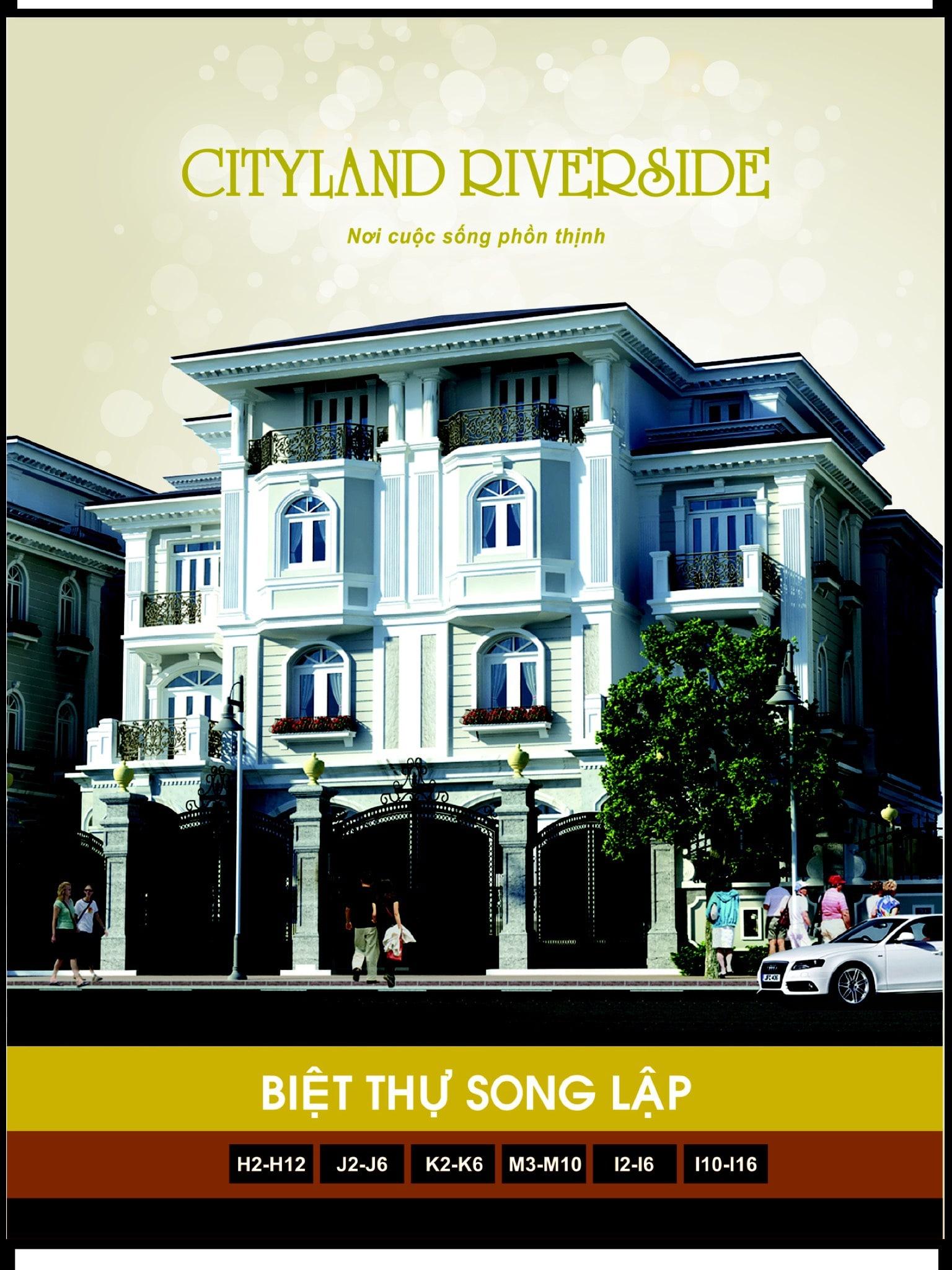 Biệt Thự Song Lập City Land Phối Cảnh