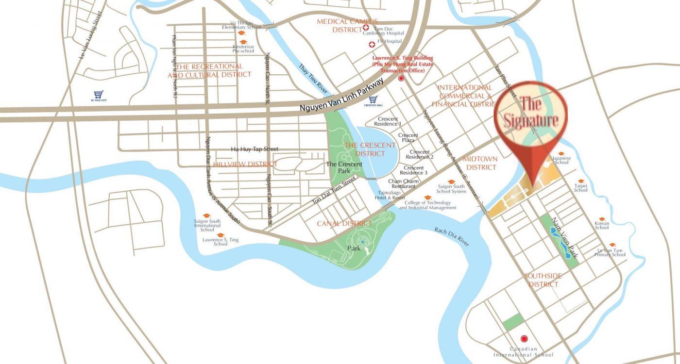 vị trí midtown m7