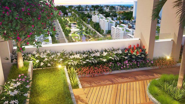 vườn trên cao midtown