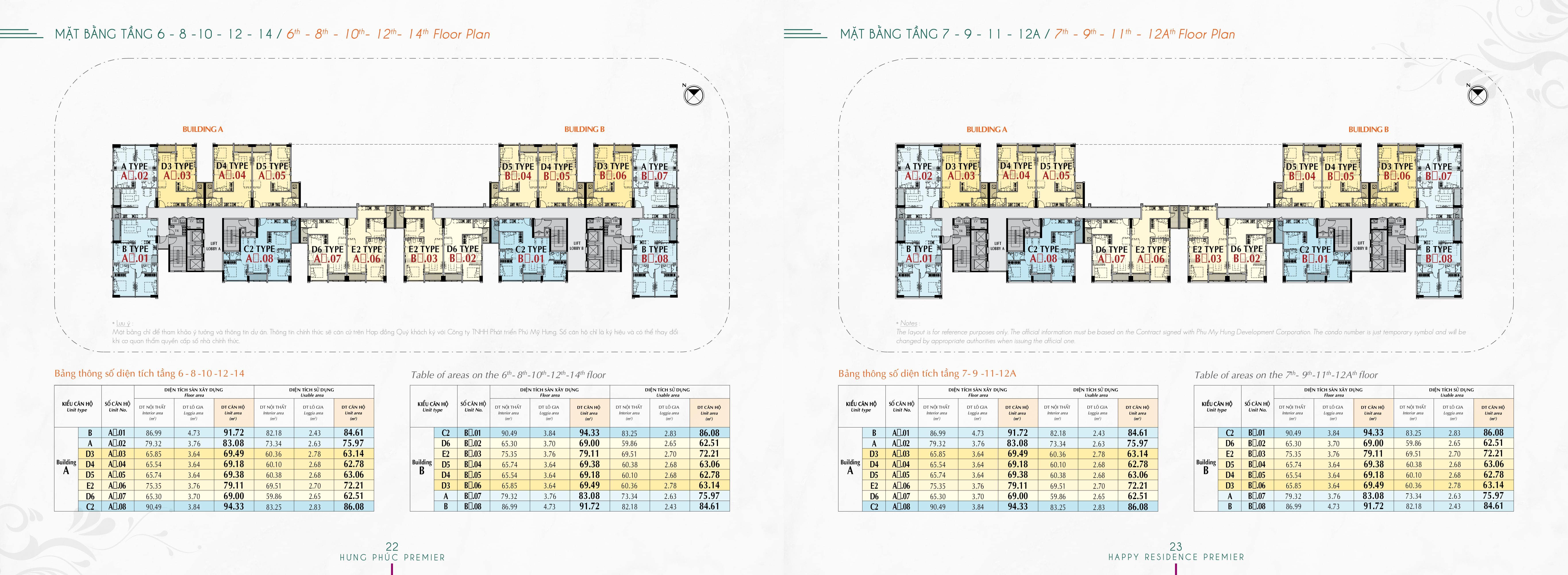 tang 6 8 10 12 14 hung phuc premier